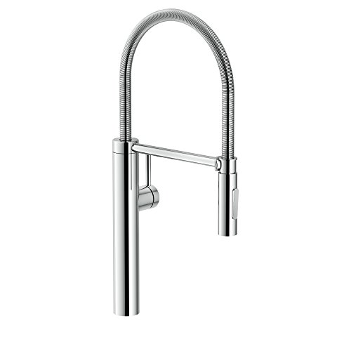 Franke FFPD4300 Pescara Single Handle Pull, 21.625 inch Ultra-Tall high arc Kitchen Faucet, Polished Chrome