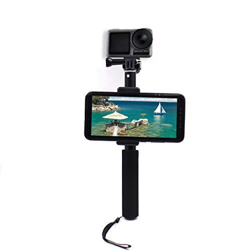 QHJ Halterung für DJI OSMO Action Camera, Multifunktions Selfie Stick Mount Stand Telefonhalter für DJI OSMO Action Kamera (Schwarz)
