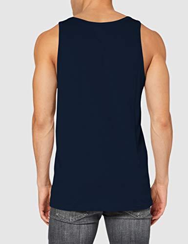 Vans Classic Tank T-Shirt, Blu (Navy/Sulphur Spring Ymq), Medium Uomo