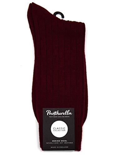 Pantherella Packington 5x1 Rib Merino Wool Socks - Wine Large Wine