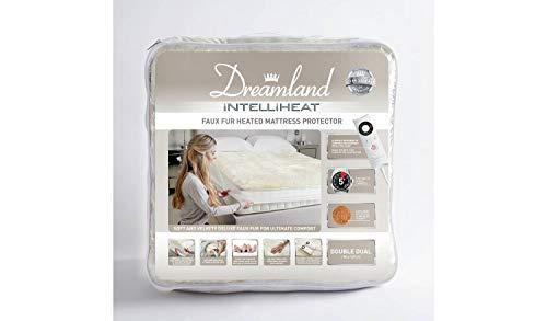 Dreamland Intelliheat - Protector de colchón de piel sintética, tamaño king