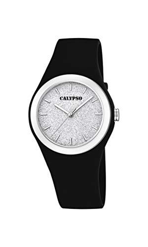 Calypso Watches dames analoog kwarts horloge met plastic armband K5754/6