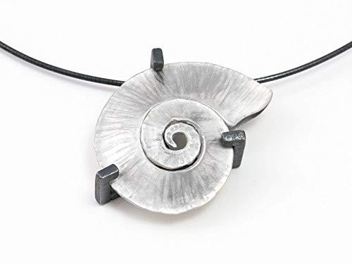 Damen-Halskette Spiral-Muschel Silber Anhänger außergewöhnlicher Schmuck