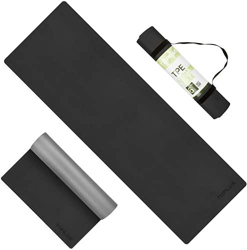 TOPLUS ヨガマット tpe 6mm yoga mat トレーニングマット ストレッチマット エクササイズマット ピラティス...