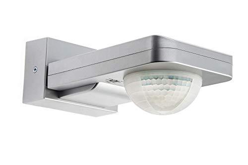 HUBER Motion 6, Bewegungsmelder 360°, Silber, hochsensibel durch 3 Sensoren und Matrixlinsen, inklusive Unterkriechschutz und Bereichsbegrenzung, Wand und Deckenmontage, IP65 Strahlwasser geschützt