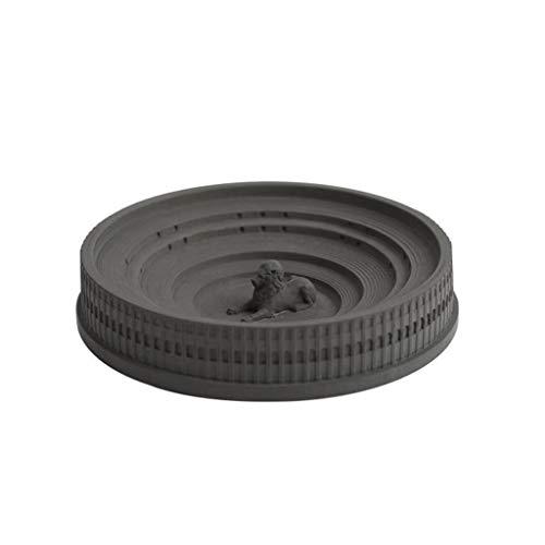 WPBOY Cenicero redondo de cemento cenicero para cigarros, creativo, portátil, para interior y exterior, adecuado como regalo para padre y novio