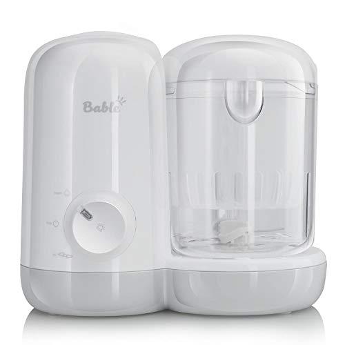 Bable Babynahrungszubereiter, 2 in 1 Dampfgarer und Mixer für Babynahrung mit Dampfgaren Mixen