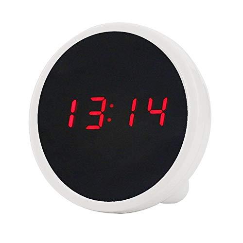 【𝐎𝐟𝐞𝐫𝐭𝐚𝐬 𝐝𝐞 𝐁𝐥𝐚𝐜𝐤 𝐅𝐫𝐢𝐝𝐚𝒚】 Reloj de Mesa, Despertador, decoración del hogar Reloj de Escritorio Despertadores Digitales para dormitorios de Oficina(White)