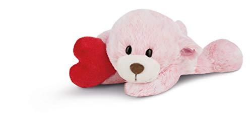 NICI Kuscheltier Love Bär Mädchen mit Herz, rosa, liegend, Plüschtier für Kinder, Babys und alle Kuscheltierliebhaber