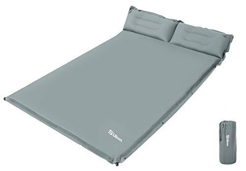 Ubon Colchón de Aire Dormir Camping Ligero Autohinchable Portátil Cómoda para 2 Personas 1.5