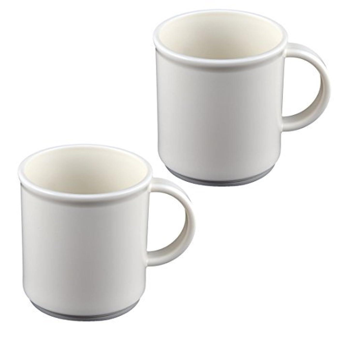 敵意湿原実現可能DealMuxバスアクセサリーブラシカップ歯ブラシ歯磨き粉ホルダー2個ホワイト