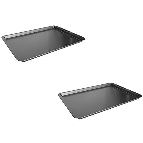 Bakerswave Non-stick Steel Baking Sheet, Grey (2, 15″ x 21″)
