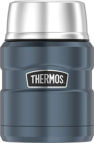 Thermos Stainless King 16 Ounce Food Jar with Folding Spoon, Slate