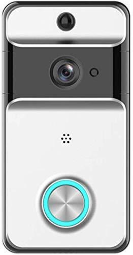 Sonnette vidéo sans fil, sonnette intelligente sans fil Wifi, interphone visuel à faible puissance 720P, conversation bidirectionnelle, caméra vision nocturne IR, détection mouvement, sonnette inte