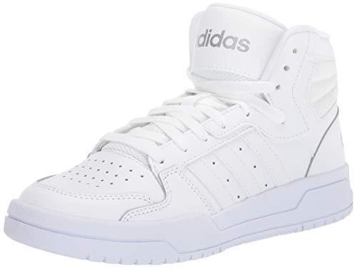 adidas Women's Entrap Mid Basketball Shoe, FTWR White/FTWR White/Matte Silver, 9.5