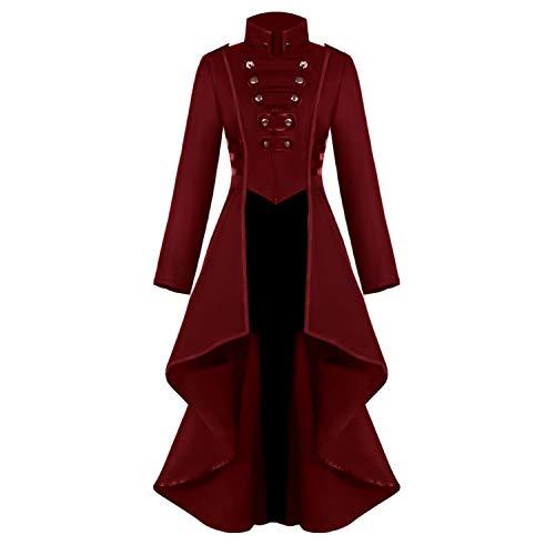 르네상스 스탬펑크 테일코트 여성용 할로윈 의상 빅토리아 시대의 중세 해적 뱀파이어 고딕 재킷 코트