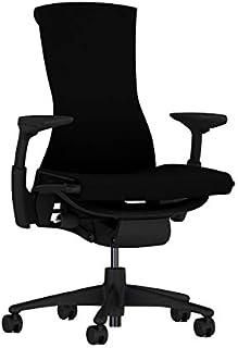 [正規品] ハーマンミラー エンボディチェア ベース:グラファイトカラー/フレーム:グラファイトカラー/キャスター:カーペット用/ファブリック(リズム):ブラック CN122AWAAG1G1BB3014