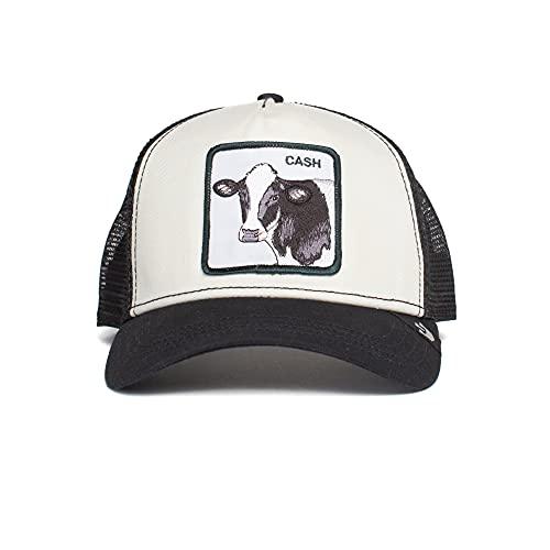 Goorin Brothers Animal Farm Snap Back Trucker Hat Black Cash Cow One Size