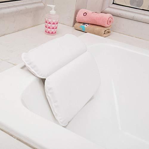 Kissme Oreiller de bain pour soutien de la nuque, oreiller de bain spa, antidérapant/anti-moisissure/séchage rapide, ergonomique, confortable, idéal comme cadeau