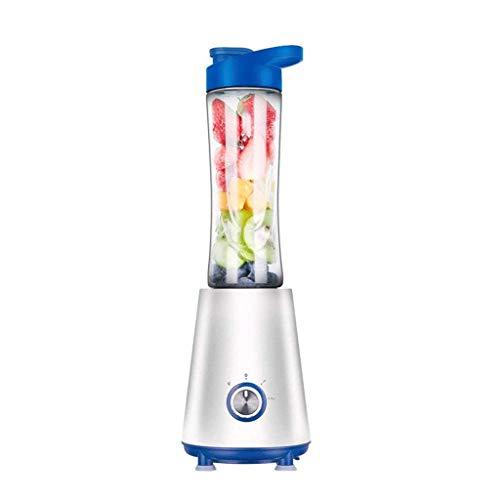 Hefacy Single server blender with vacuum bottle, portable juicer smoothie blender (color: green) (color: pink) Baibao (Color : Blue)