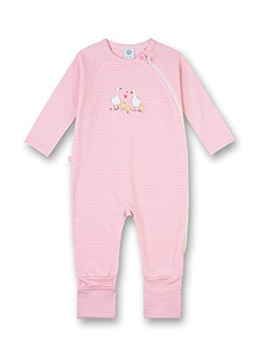 Sanetta Baby-Mädchen Overall Long Schlafstrampler, Rosa (scampi 3950), 74