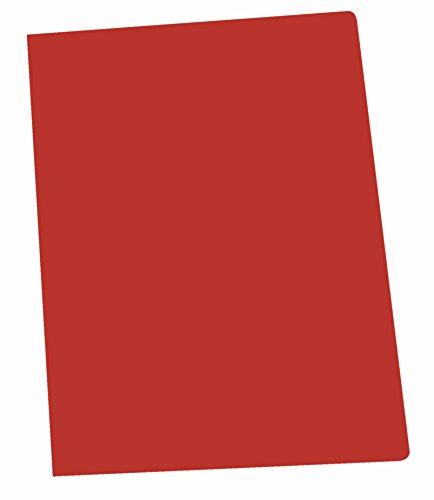 Elba Gio - Pack de 50 subcarpetas simples, A4, color rojo