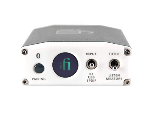 iFi Nano Ione Bluetooth Receiver/Home Entertainment System Upgrade - DAC for Streaming Hi Res Audio - Outputs/Inputs - USB/SPDIF/Coaxial/Optical/Analog RCA