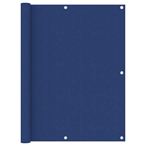 vidaXL Toldo para Balcón Parasol Pantalla Privacidad Malla Ocultación Patio Jardín Terraza Protección Impermeable Tela Oxford Azul 120x500 cm