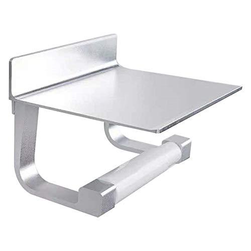 Cerolopy Portarrollos de papel higiénico, acero inoxidable, soporte para rollos de papel higiénico, soporte para papel higiénico para baño y cocina (plata)