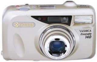 Fecha Yashica Zoomate 140 135 mm cámara