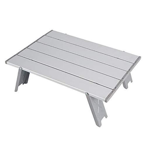 Galaga Camping Tisch Klappbarer tragbarer Aluminium Klapptisch Mini Klapp Camping Klein für Outdoor & Indoor, Beistelltisch Camping für BBQ, Picknick, Outdoor, Ultraleicht Kompakt (Silber)