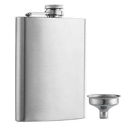 YWQ Solid Flasks Stainless Steel Flask & Funnel Set, 8 oz