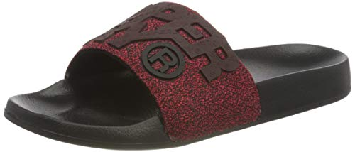 Superdry Herren High Build Pool Slide Sandal, Red Grit, Medium EU