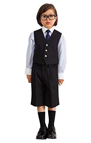 [OLIVER HOUSE] 入学式 男の子 スーツ ベスト (フォーマルスーツ 4点セット) 卒園式 小学生 男子 [ネクタイ付き] 子供服 キッズ ボーイズ サックス 110cm