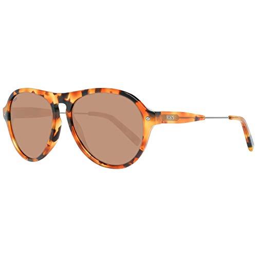 TOD'S TO0232 5653J Tods zonnebril TO0232 53J Oval zonnebril 56, bruin