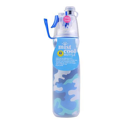 Georgie Porgy Tazza di Viaggio della Tazza della Bottiglia di Sport della Bottiglia di Acqua di Doppio Strato dello Spruzzo della Foschia 590ml all'aperto (Grande Esercito Verde)