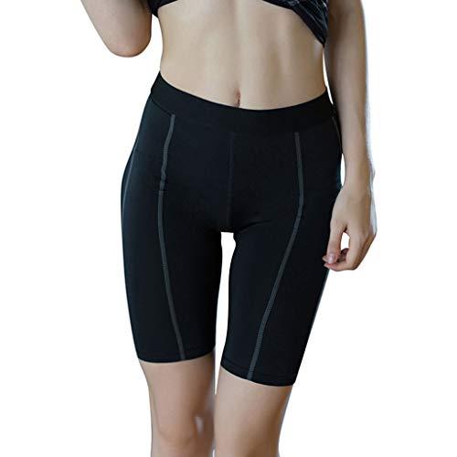 Amlaiworld Damen Shorts Kurze Hosen Yogahose Fitness Sporthose mit Quick Dry Function High Waist Fitnesshose spleißen Kurze Sporthose Laufhose Yoga-Shorts
