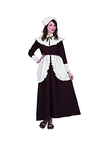 RG Costumes Women's Colonial Lady Abigail, Brown/Cream, Large