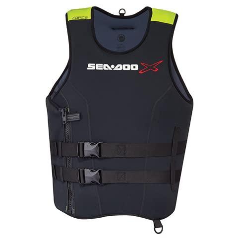 SeaDoo - Chaleco con dispositivo individual de flotación, de neopreno, ligero incluso en mojado, ultrarresistente para motos de agua y deportes acuáticos (XL)