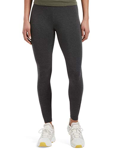 HUE Women's Plus Size Cotton Ultra Legging with Wide Waistband, Assorted, Graphite Heather, 1X