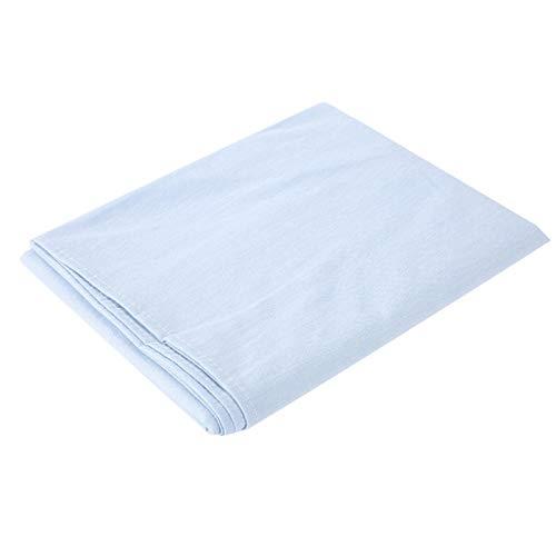 Waschbare Massageliegen-Bettlaken, hypoallergen, weicher Baumwollbezug, für Salon, Schönheitssalon, mit Atemloch für Gesicht, für Betten innerhalb von 80 x 200 cm (hellblau)
