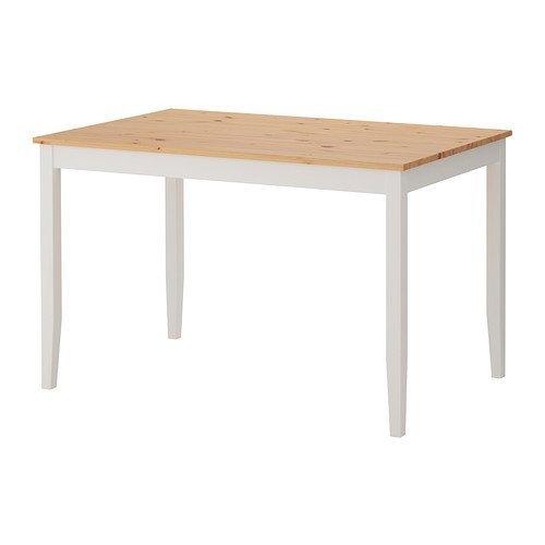 IKEA(イケア) LERHAMN テーブル, ライトアンティークステイン, ホワイトステイン (30264278)
