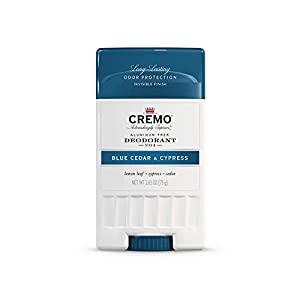 Cremo Blue Cedar and Cypress Aluminum-Free Deodorant, 2.65 Oz 1