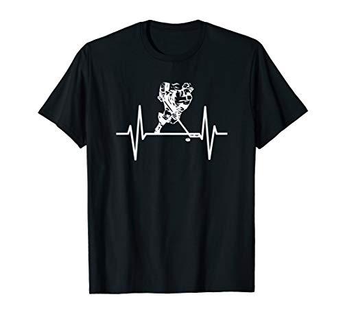 Eishockey Eishockeyspieler Herzschlag T-Shirt