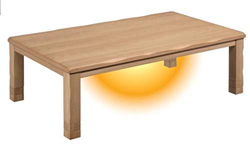 こたつ 150×90 大型 コタツテーブル 2段継脚付き EAGLE (こたつの色(ブラウン))