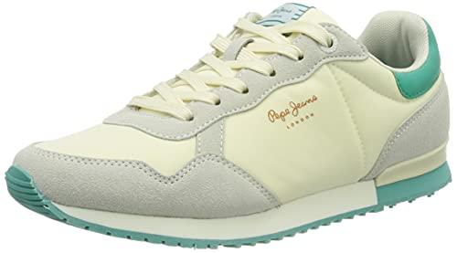 Pepe Jeans Archie Block, Zapatillas Mujer, 800 Blanco, 41 EU
