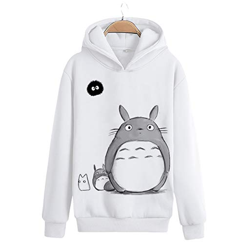 GLEYDY Unisex Mein Nachbar Totoro Hoodie Herren Damen Kapuzenpullover Langarm Plus Kaschmir Pullover Sweatshirt mit Tasche,003,XL