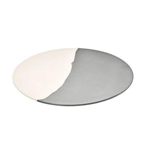 Magu eettafel Silver Flow Creme grijs D. 28 cm rond natuurlijk design