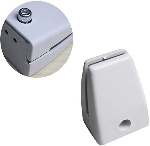 ZXL Nieschutzständer Acryl-Bildschirmhalterungen, Trennwandhalterung, Kunststoffmöbel Glas-Trennwandklemmen, Clipklemme für Bürotisch,28PCS