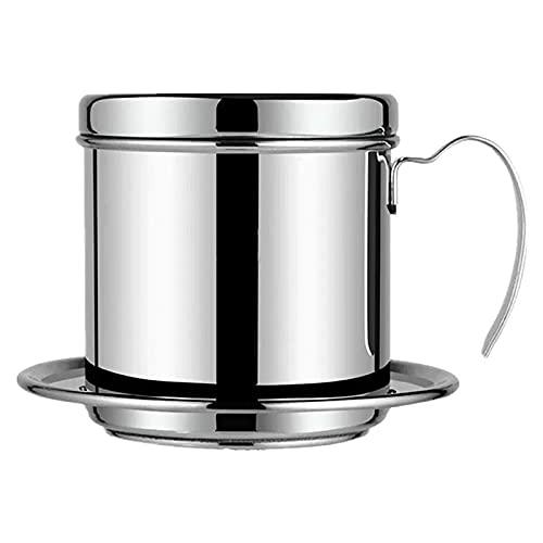 MING-MCZ cafetera de Prensa Francesa Filtro de café Filtro portátil Prensa Prensa MAQUENTE Reutilizable Pote de Cola de café Drip de café Café Manual cafeteras de Camping (Color : Silver)